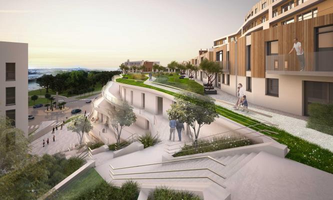 terrasses de la falaise